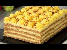 Această prăjitură cu nuci întrece orice tort! Atât de gustoasă, toți vor dori să o guste Romanian Desserts, Romanian Food, Food Cakes, Delicious Deserts, Yummy Food, Bulgarian Recipes, Crazy Cakes, Desert Recipes, Cakes And More