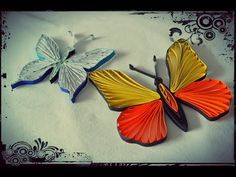 How to Make Quilling Butterfly - Quilling Tutorial - YouTube