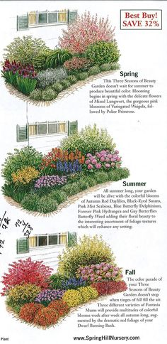 GARDEN: garden plan a week, week three seasons of beauty - The . - GARDEN: garden plan one week, week three seasons of beauty – The Urban Domestic Diva: GARDENING - Plantas Indoor, Flower Garden Plans, Perennial Garden Plans, Flower Garden Design, Garden Design Ideas, English Flower Garden, Flower Garden Layouts, Flower Bed Designs, English Garden Design
