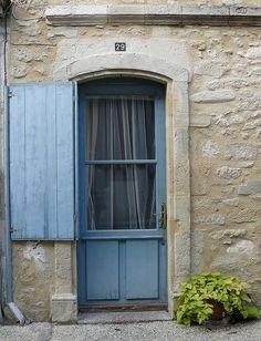 Blue door of Maison en Pierre - Duras, France  | by Marie-Hélène Cingal