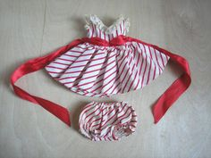 Vintage Madame Alexander Kins Doll Tagged Red White Striped Dress Bloomers Wendy #AlexanderkinsWendy #ClothingAccessories