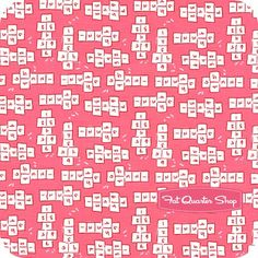 Children at Play Cotton Pink Hopscotch Yardage SKU# DC5141-PINK-D
