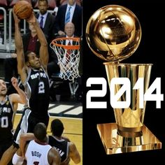 SPURS KAWHI LEONARD 2014 NBA CHAMPION & FINALS MVP