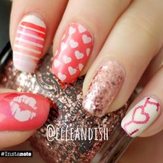 valentine #nail #nails #nailart Make sure to check out http://www.thepolishobsessed.com for nail art, tutorials, giveaways and more!