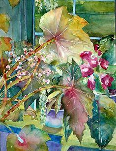leaves, watercolor by David R. Kids Watercolor, Watercolor Flowers, Watercolor Paintings, Nature Artists, 2d Art, Nature Paintings, Begonia, Funny Art, Beautiful Artwork
