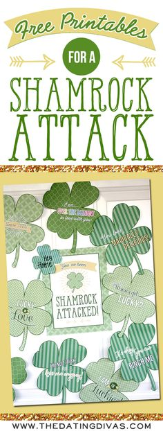 Free Printables for a Shamrock Attack. Fun activity for St. Patrick's day.