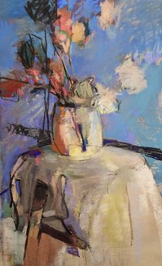 """The Conversation 2014"" an original pastel by Casey Klahn."