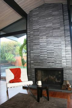 fireplace slate. Island Stone Silver Quartzitic Slate VTile fireplace  modern fireplaces other metro wall cladding for For the Home Pinterest