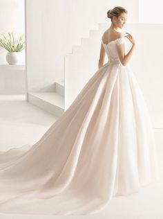 Courtesy of Rosa Clará wedding dresses; www.rosaclara.es/en; Wedding dress idea. #weddingdress