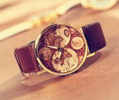 Carte, carte du monde montres, montres unisexe, une des montres plus populaires