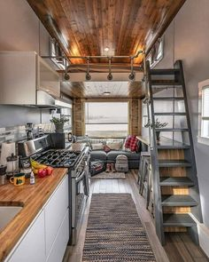 Tiny Home on Colorado Horse Ranch for Rent in Hudson, Colorado - 20 Tiny Houses in Colorado You Can Rent on Airbnb TODAY! Tiny House Movement // Tiny Living // Tiny House Kitchen // Tiny Home Living Room // Modern Tiny House, Tiny House Living, Tiny House Plans, Tiny House Design, Tiny House On Wheels, Small Living, Loft Design, Tiny House 3 Bedroom, Modern Design