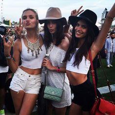 Coachella April 2015: Josephine Skriver,Sadie Newman and Sara Sampaio