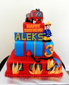'Fireman Sam' Birthday Cake | Shared by LION #fireman #sam