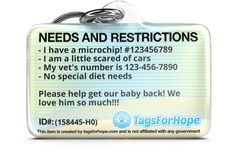 TagsForHope creates the cutest pet ID tags that keep your pets safe. Rare Animals, Animals And Pets, Reactive Dog, Cat Id Tags, Mini Dachshund, Dog Id, Pet Treats, Pet Safe, Pet Accessories