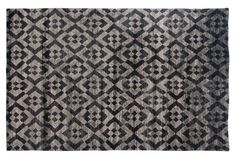 "6'x9'3"" Cannes Rug, Black/Gray"