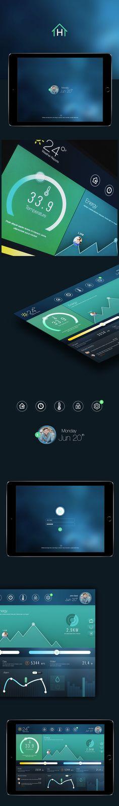 Home Dashboard (by Cüneyt ŞEN) #app #concept #behance