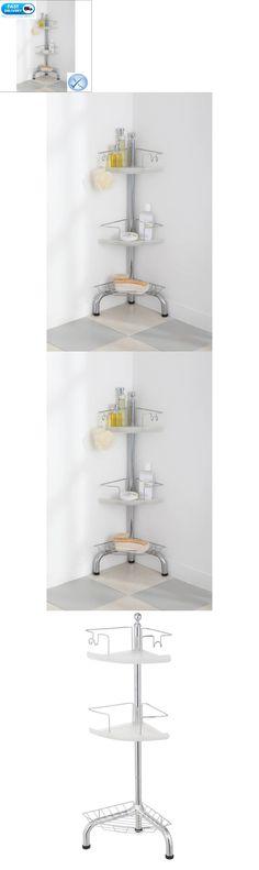 Bath Caddies and Storage 54075: Shower Tub Pole Tension Corner Caddy ...