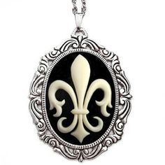 Fleur de Lis Necklace Ivory now featured on Fab.