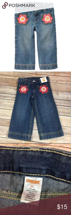 NEW NWT Gymboree Smart Little Lady Jeans 2T NEW NWT Gymboree Smart Little Lady Jeans 2T  Give your stylish little girl sweet denim for every day. Comfy design feature fashionable flower pockets and light distressing. * 100% cotton denim * Adjustable waist with zip fly and snap closure  * Front and back pockets * Machine washable; imported * Collection Name: Smart Little Lady  #smartlittlelady #jeans #denim #blue #flowers #new #nwt #gymboree #adjustablewaist Gymboree Bottoms Jeans