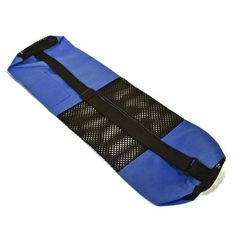 27 IN X 7 IN ROYAL BLUE CANVAS YOGA MAT BAG