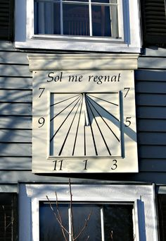 sundial vs. outdoor clock