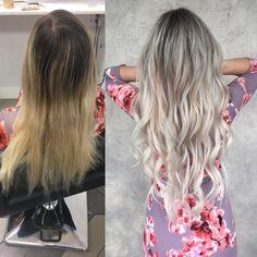 Hair done by Alexa Ahlman at Habit Salon in Gilbert AZ! Lon… - All For Hair Cutes Ashy Blonde Hair, Balayage Hair, Dark Hair, Cute Hair Colors, Teen Hairstyles, Blonde Hairstyles, Long Wavy Hair, Clip In Hair Extensions, Hair Today