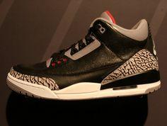 9dd4e3427da60a Air Jordan III Basketball Sneakers 2018 Retro Black Cement Black Cement 3