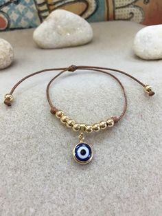 Items similar to Amulet bracelet evil eye on Etsy Eye Jewelry, Beaded Jewelry, Jewelery, Jewelry Accessories, Handmade Jewelry, Jewelry Design, Gemstone Bracelets, Bangle Bracelets, Aquamarine Bracelet