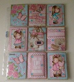 Sandra Rietveld Pocket Pal, Pocket Cards, Atc Cards, Card Tags, Scrapbook Journal, Scrapbook Albums, Shadow Box Memory, Magnolia, Copic