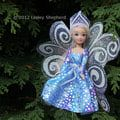 Make a Winter Fairy Costume for Any Size Doll