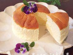 ふわぁ〜しゅわ♡ヨーグルトスフレケーキ♡の画像