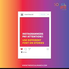 Instagrammers pay attention! You can make your Instagram stories catchy. Details in the image.  www.thesocialmanch.com   #SocialMediaAgency #DigitalMarketingAgency #SocialManch #DigitalMarketing #BrandAwareness #SocialMediaPresence #socialmedia #digitalmarketing #digitalmedia #DigitalMarketingAgency #socialmediamarketing #SocialMediaAgency #DigitalMarketingAgency #waytogo #brandmanagement #onlinereputation #brandreputation #branding #graphicdesigning #facebookmarketing #instagram