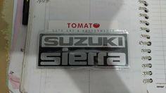 jual emblem suzuki sierra -ukuran 11,5cm x 4,5cm -harga satuan,tomato 082210151782