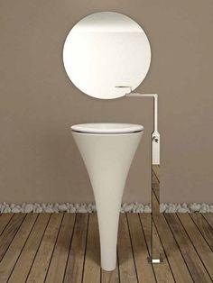 Ceramic #washbasin AMEDEO by Ceramica Cielo   #design Karim Rashid #bathroom  reminds me of the dentist office spittoon