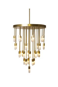 The Quartz Falls Chandelier is such a statement piece. Emporium Home by Ashley Childers is a go-to for my interiors! #hpmkt #hpmktss #cryptonhome