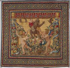 Two Putti Trying To Stop a Monkey Abducting a Child from a set of the Giochi di Putti  Designer:Design attributed to Giovanni da Udine (Giovanni dei Ricamatori) (Italian, Udine 1487–1564 Rome)