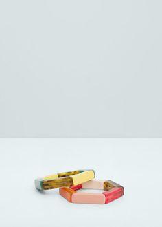 Set pulseiras rígidas | MANGO