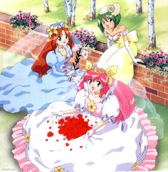Wedding Peach: An older anime series but absolutely adorable! I would consider it almost Sailor Moon wonderful. So if you love Sailor Moon, you'll like this as well! Pretty Cure, M Anime, Kawaii Anime, Totoro, Sailor Moon Wedding, Candy Pictures, Samurai, Anime Wedding, Familia Anime