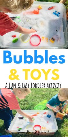 This sensory bin is so easy to set up and a perfect activity to do at home with your toddler or preschool child! This toddler activity takes minutes to set up and will keep your kid learning and having fun! Sensory Activities Toddlers, Games For Toddlers, Sensory Bins, Infant Activities, Activities For Kids, Sensory Play, Toddler Fun, Toddler Preschool, Toddler Crafts
