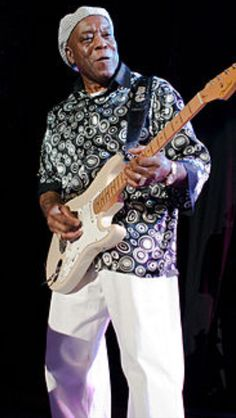 Buddy Guy: For almost 50 years, Guy has performed flamboyant live concerts of energetic blues and blues rock, predating the 1960s blues rockers. As a musician he had fundamental impact on the blues and on rock & roll, influencing a new generation of artists.