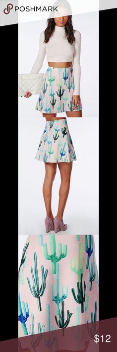 Missguided Cactus Print A-Line Skirt Cute skirt with cactus print Missguided Skirts