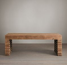 """Reclaimed Timber Slat Coffee Table 