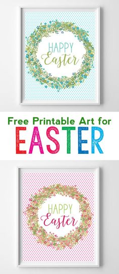 Free printable art for Easter. These free Easter printables are perfect for your spring home decor! #easter