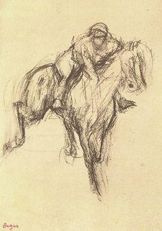 Degas Riding a horse at a gallop