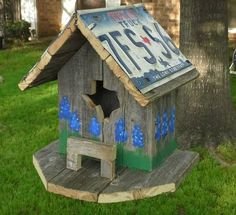 Bluebonnet Texas Bird House
