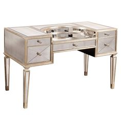 This Borghese Writing Desk would make a pretty vanity. Put a mirror on the wall, and you're done!