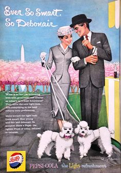 Vintage 1959 Pepsi-Cola ad (in honor of Washington DC Cherry Blossom Festival celebrating 100 years!)