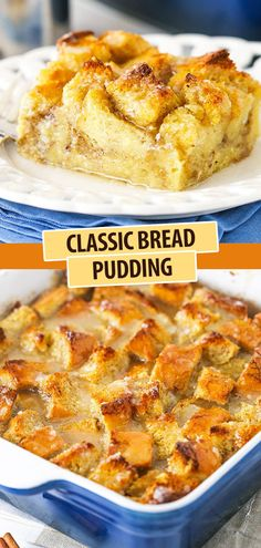 Easy Desserts, Delicious Desserts, Dessert Recipes, Baking Recipes, Holiday Desserts, Best Bread Pudding Recipe, Chocolate Bread Pudding, Old Fashioned Bread Pudding, Stale Bread