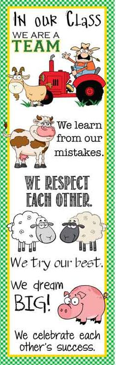 FARM Theme Classroom Decor/ Character Education Banner / X-Large / In Our Class / JPEG / ARTrageous FUN