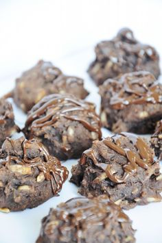 Chocolate Protein Cookies with Flax and Almonds! Give yourself a major protein boost (and fiber) with these great post-workout cookies!